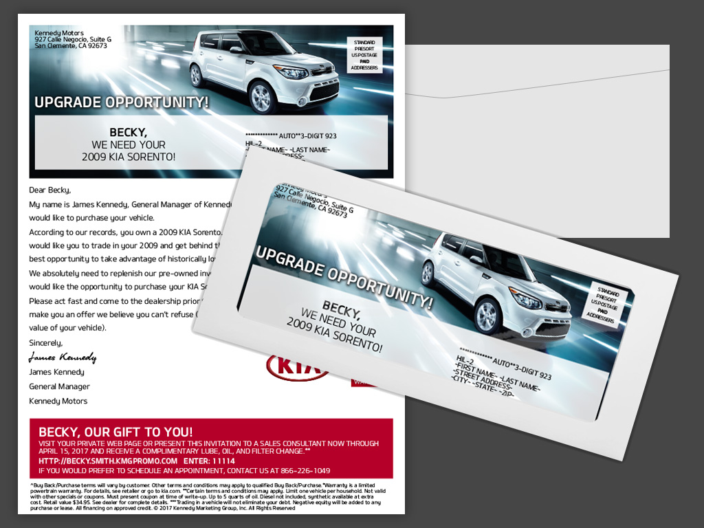 kia buy back window envelope program