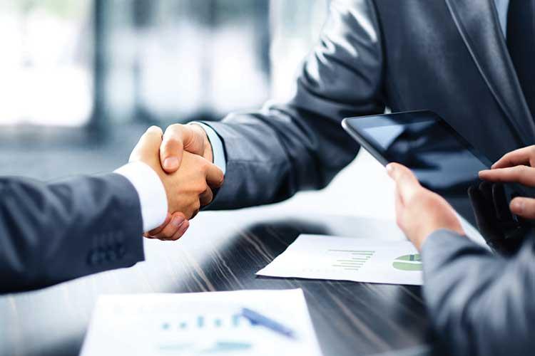 Automotive dealership handshake